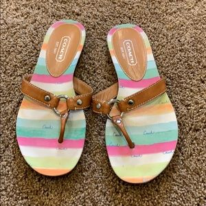 Women's coach flip flop sandals size 8